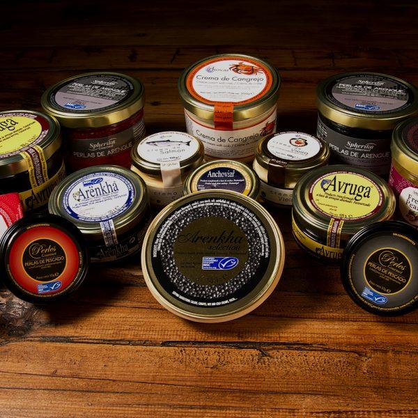 surtido de productos Pescaviar