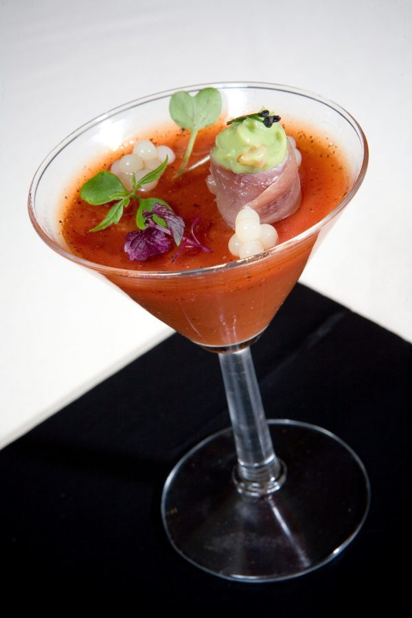 Bloody mary con Fresh pearls de Pescaviar