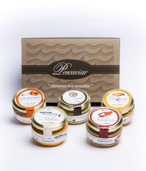 Gama cremas de pescado Chovas Pescaviar