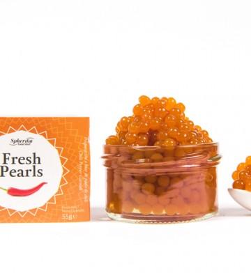 Perlas líquidas Fresh Pearls de chili de Pescaviar