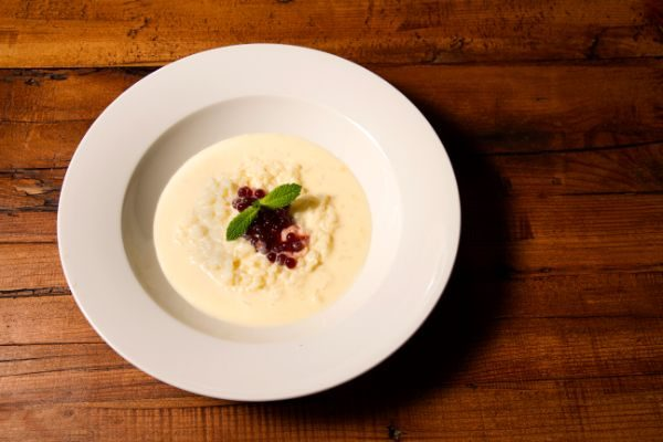 Receta de arroz con leche con perlas de fresa Fresh Pearls de Pescaviar