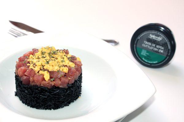 arroz negro tinta de sepia pescaviar