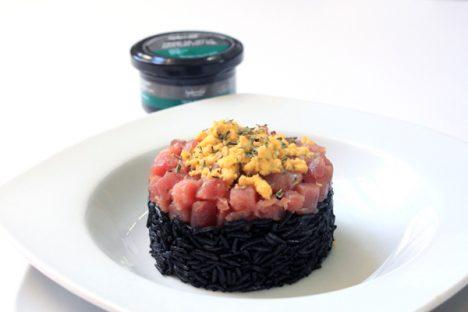 receta de arroz negro con tinta de sepia Pescaviar