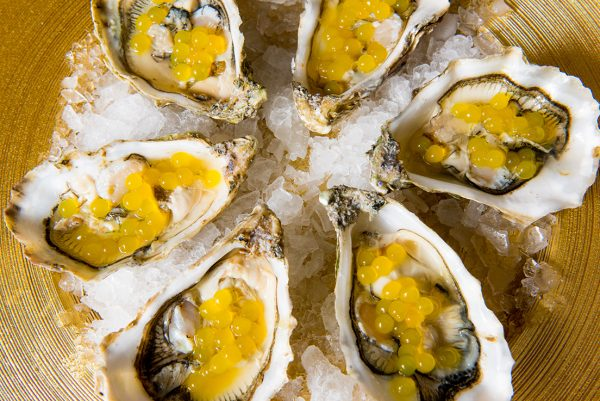 OYSTERS WITH FRESH PEARLS OF LEMON&LIME